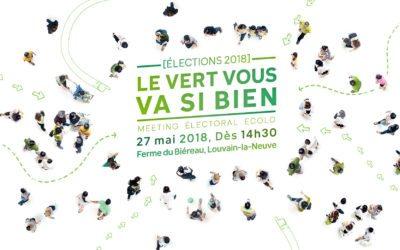 27 mai 2018: Élections 2018 // Le vert vous va si bien