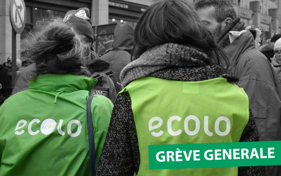 Grève générale: pas de justice climatique sans justice sociale